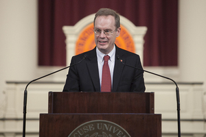 When Kent Syverud become chancellor of Syracuse University, he started Fast Forward Syracuse. The initiative has three parts and is meant to improve SU's infrastructure and academic life moving forward.