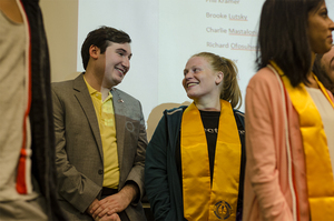The Student Association honored its graduating members at the final assembly meeting of the year.