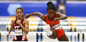 Tia Thevenin was the first to advance to Oregon, finishing 12th in the 100 meter hurdles to earn the Orange's only qualifying spot in a sprinting event.