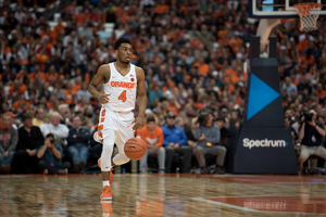 John Gillon, who played his graduate year at SU and hit a buzzer-beater to beat Duke, helped his mother save a family from rising waters in Houston.