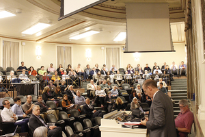 The University Senate gathered in Maxwell Auditorium Wednesday for the first meeting of the semester.